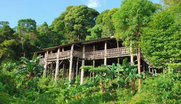 Stelzenhaus auf Borneo