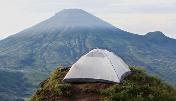 Camping in Indonesien